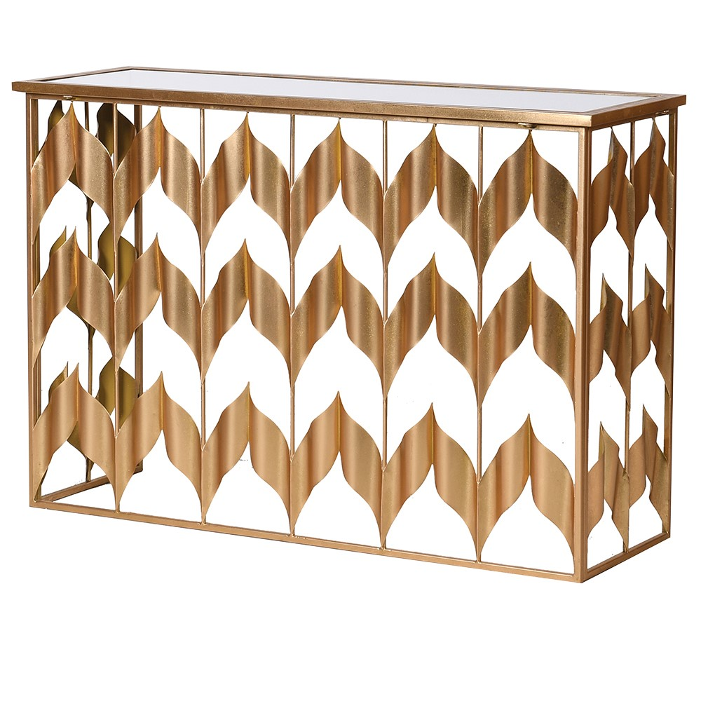 sassy gold console table