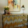 gold mirror console table sold by stagers lifestyle