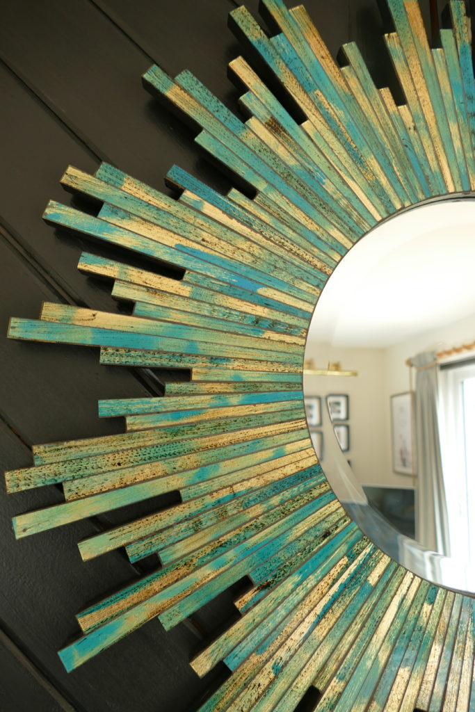 turquoise and gold mirror