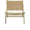 subang rattan lounger front view sold by stagers lifestyle