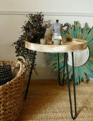 kenzie side table with coffee maker