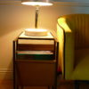 bullhorn marble lamp on side dresser sold by stagers lifestyle