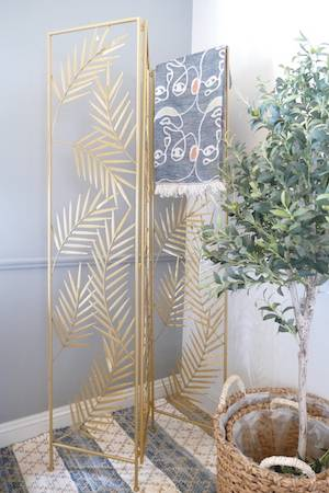 MARILYN GOLD SCREEN WITH OLIVE TREE