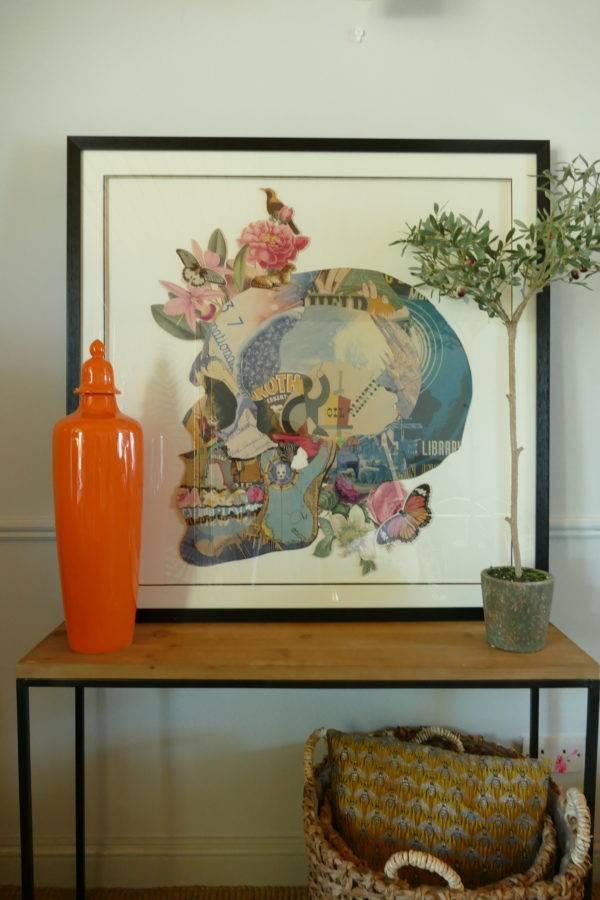 3D COLOURFUL SKULL and slim jim orange jar and skull picture