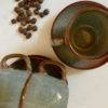 espresso cup and saucer with coffee beans