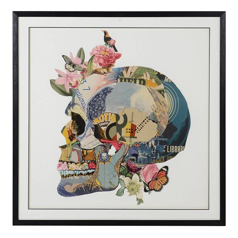 peony 3d skull picture