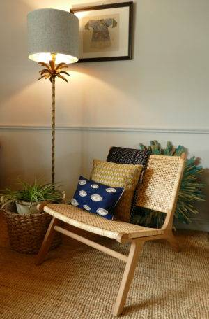 subang rattan lounger with lamp sold by stagers lifestyle
