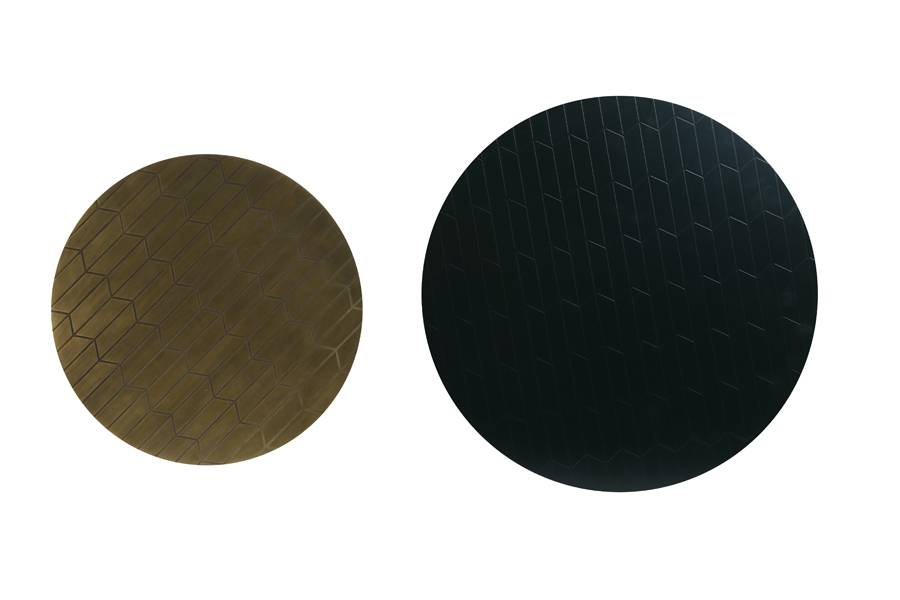 two wako side tables from top view