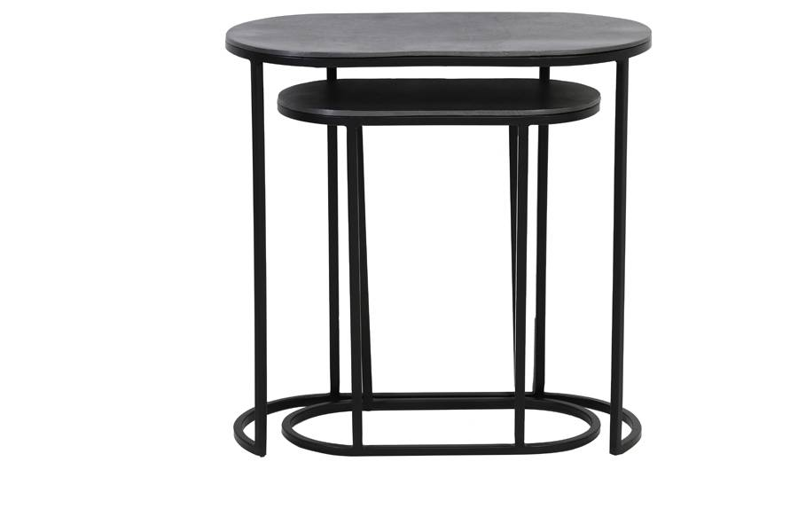 black bocov side tables one under the other