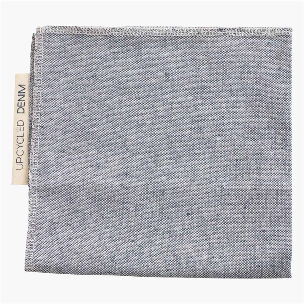 lightblue denim napkin folded