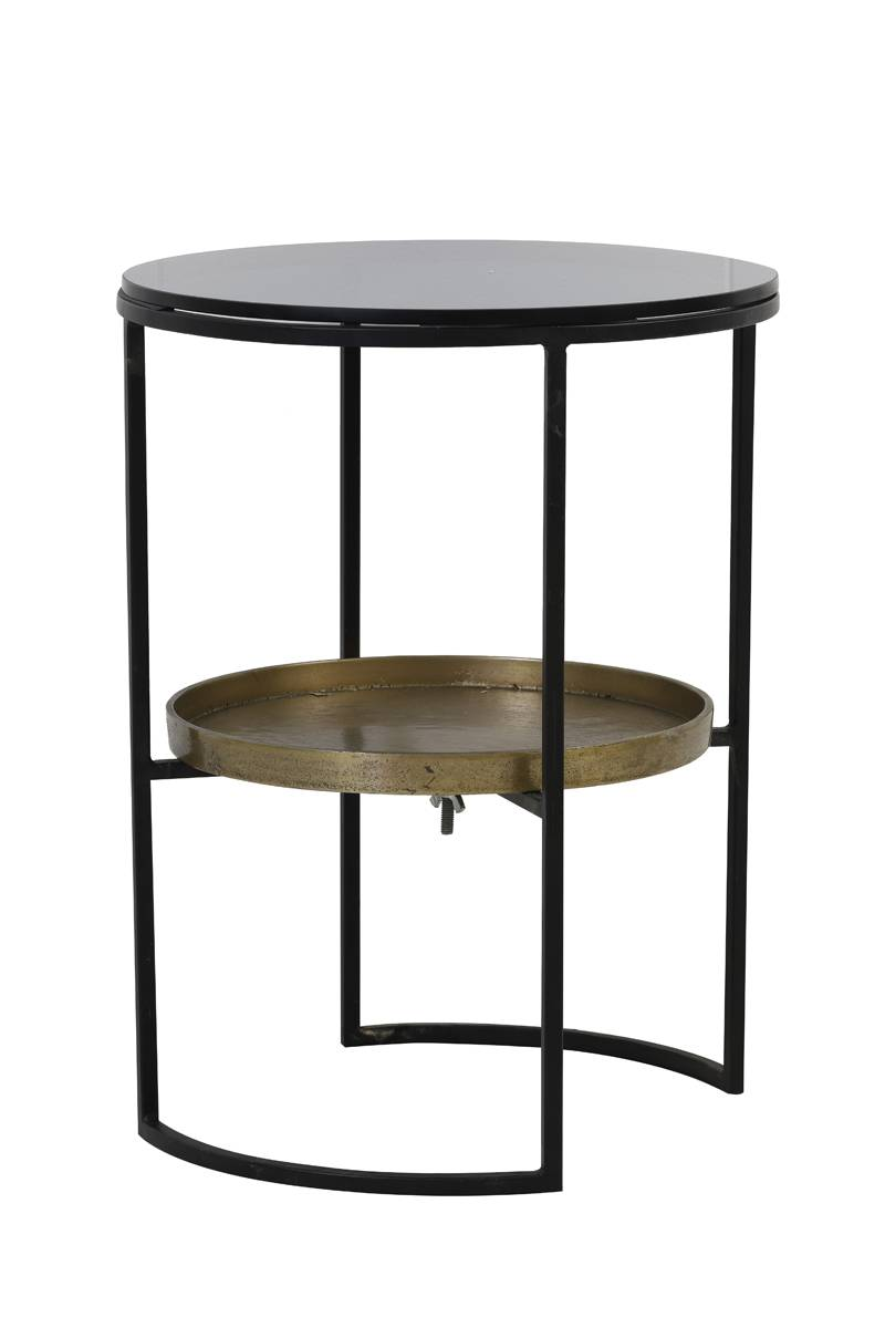 black and gold rowdy side table