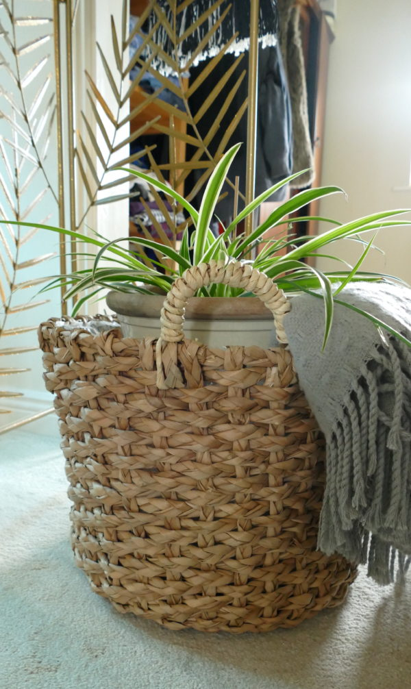 seagrass basket with plan and blanket subang rattan lounger sold by stagers lifestyle