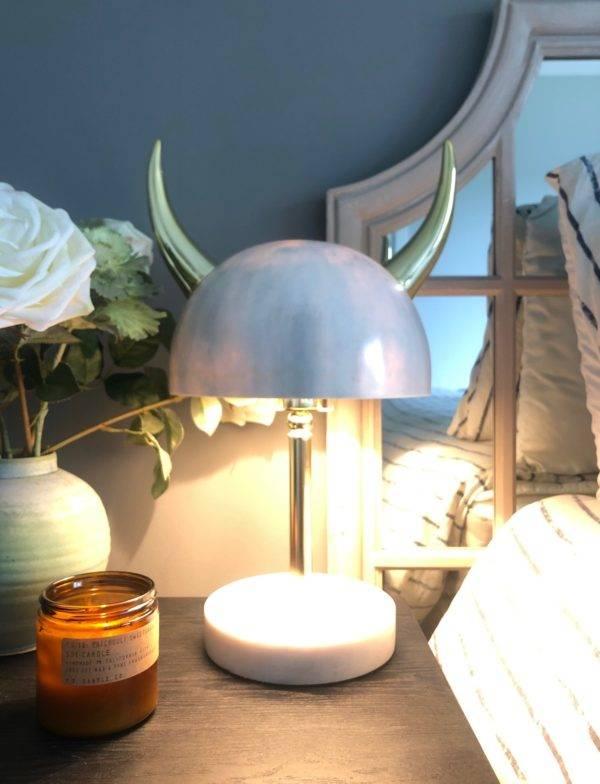 bull horn marble lamp