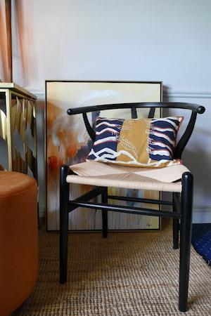 Black Elm Wishbone Chair