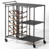 INDUSTRIAL DRINKS TROLLEY ON WHITE BACKGROUND
