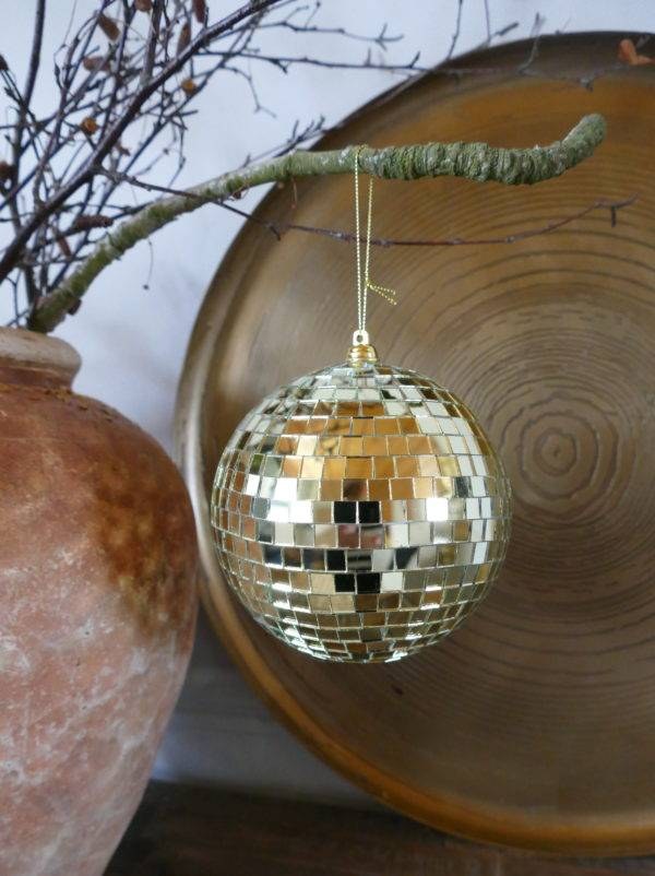 HANGING GOLD DISCO BALL