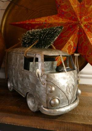 Galvanised campervan on table
