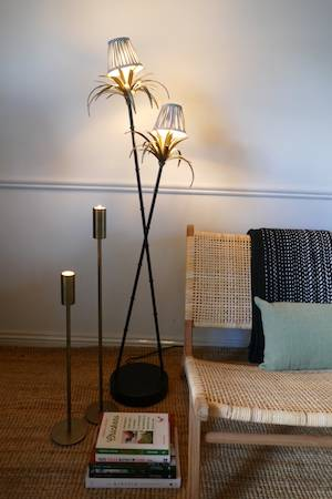 palm tree floor lamp and shades