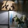 Crewelwork Table Lamp On