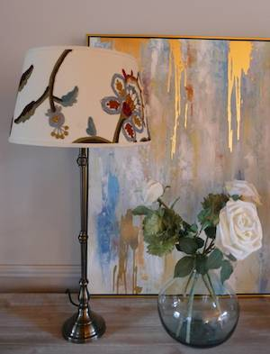 Crewelwork Table Lamp Off