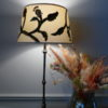 Crewel Embroidery Lamp On