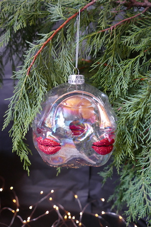 Glam Face Tree Bauble (L)