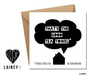 Lainey K Good Tea Towel ON WHITE BACKGROUND
