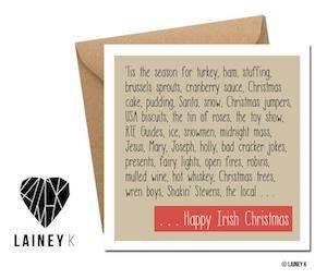 LAINEY K IRISH CHRISTMAS ON WHITE BACKGROUND