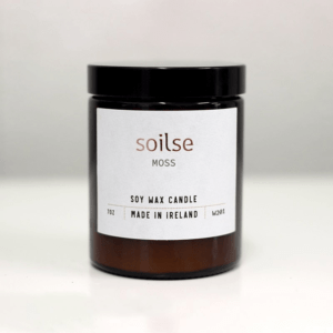 SOILSE CANDLE MOSS ON WHITE BACKGROUND