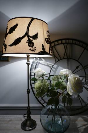 crewel embroidery lamp