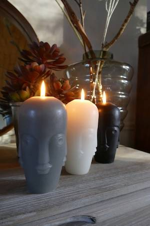 Abstract Face candles