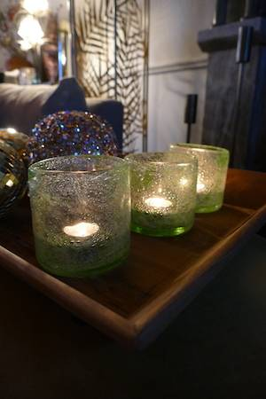 LIME BUBBLE CANDLE HOLDER