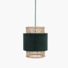 CIRCUS LAMP CYLINDER GREEN ON WHITE BACKGROUND