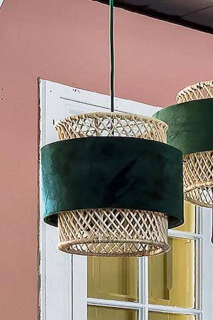 CIRCUS LAMP CYLINDER GREEN IN ROOM