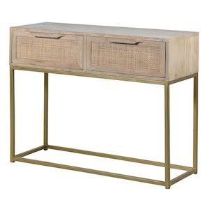 SAFARI CONSOLE TABLE ON WHITE BACKGROUND