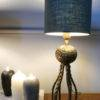 Octopus table lamp and shade ON BENCH