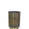 SNAKE PRINT GLASS LAMP LED ON WHITE BACKGROUND