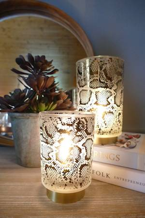 SNAKE PRINT LED LAMP S WITH LARGE