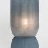 BLUE GREY LED TABLE LAMP LARGE ON WHITE BACKGROUND ON