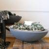 LARGE INDOOR OUTDOOR GREY PLANTER ON BOX