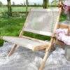 OUTDOOR ROPE FOLDABLE LOUNGER (TAUPE) PLAIN