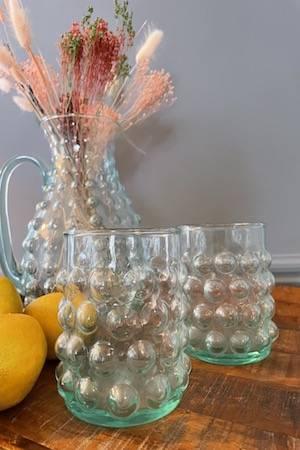 aqua bubble tumblers with pitcher