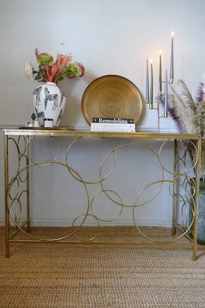 GOLDY LOOPS CONSOLE TABLE