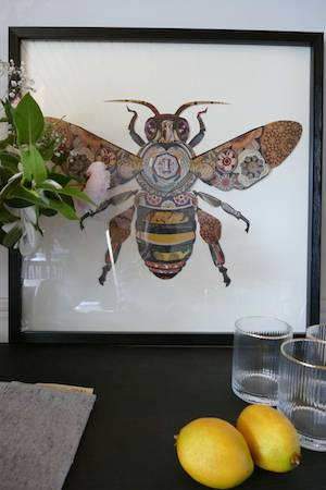 3d bee collage picture