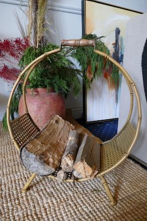 Bamboo Effect Log Holder