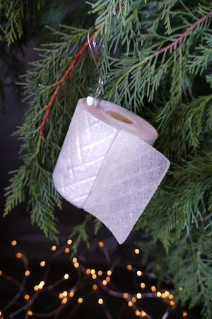 Glass Loo Roll Bauble
