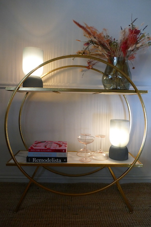 round marble console table